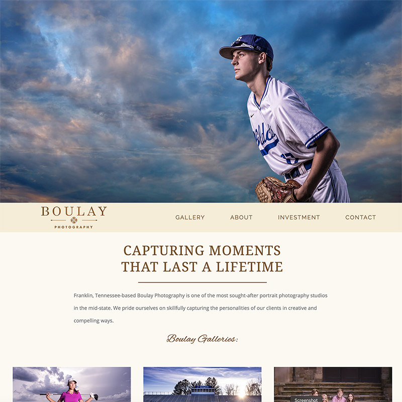 Boulay Photography Website