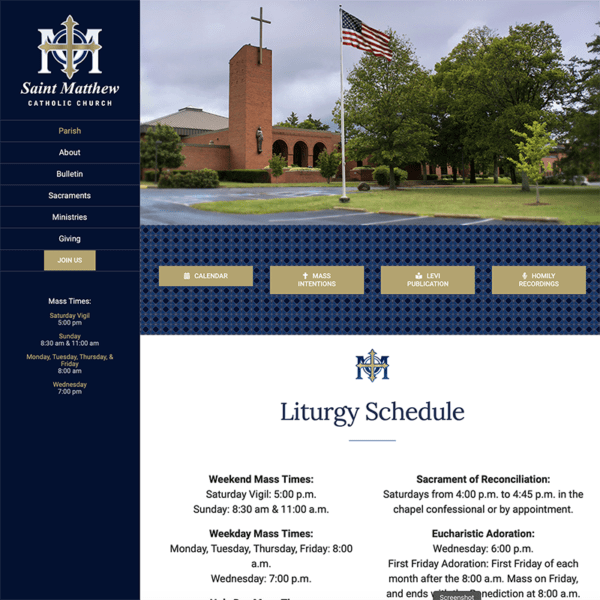 St Matthew website