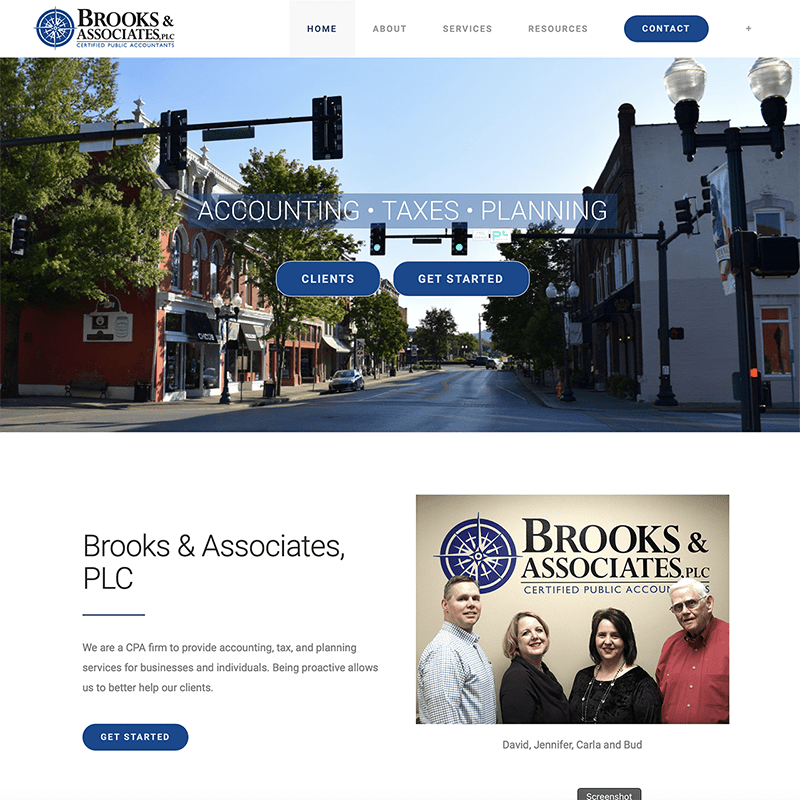 Brooks and Associates website